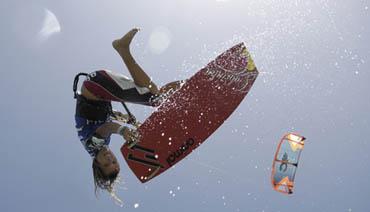 Kiten auf Fuerte 2