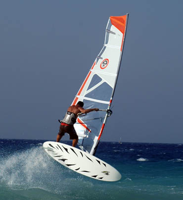 Surfen auf Rhodos