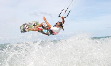 Kiten auf Boracay