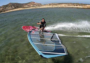 Surfen auf Naxos