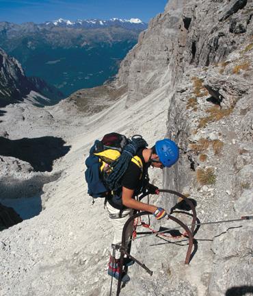 Klettersteig beim Outdoor Testival