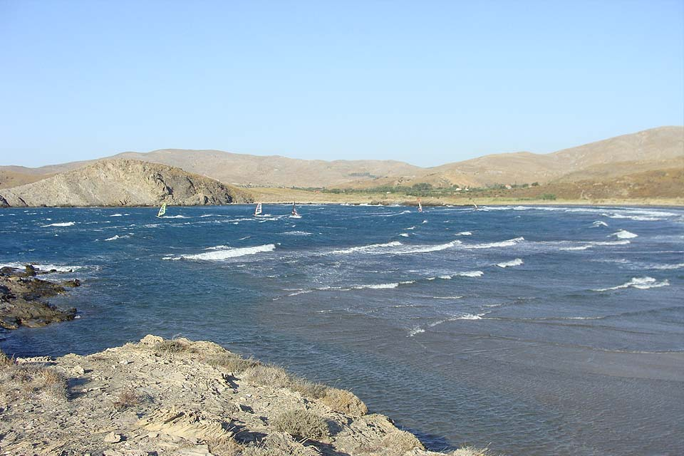 Windsurfspot Sigri Lesbos Griechenland Sun Fun Windsurfen