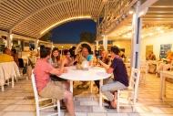 Naxos - Abendessen im Beach Cafe