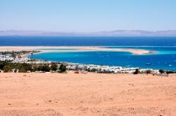 Überblick über die Bucht von Dahab -
