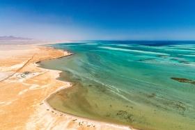 El Gouna - ELEMENT Watersports, Luftansicht von Revier und Center