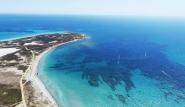 Limnos - Luftansicht, Surf und Kite Revier