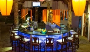 Cabarete, Villa Taina, Bar bei Nacht