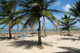 Ilha do Guajiru - Casa da Bruxa, Blick vom Zimmerbalkon auf den Spot