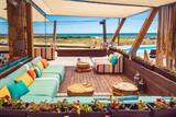Limnos, Keros Blue, Lounge und Pool mit Meerblick
