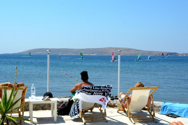 Sigri - Lesbos, Sigri Surfcenter, Relaxen Terrasse