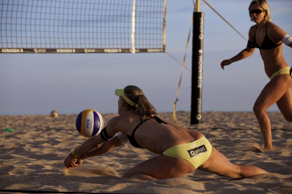 Fuerteventura - ROBINSON Club Jandia Playa, Beachvolleyball voller Einsatz