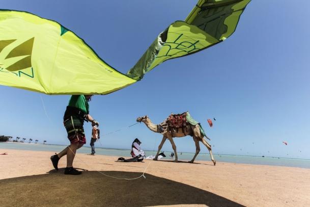 El Gouna, am Strand von Kite-People