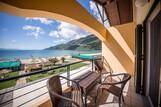 Lefkada - Club Vass Hotel, Balkon mit Meerblick