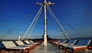 Philippinen - SY Siren,  Sonnendeck