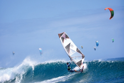 Mauritius - Le Morne - Club Mistral Windsurfing, Surf- und Kiteaction