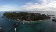 Derawan Lodge, Luftaufnahme
