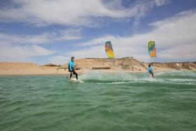 Dakhla Nord - Kite Action am KBC Center