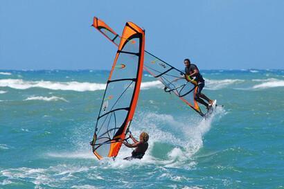 Cabarete Windsurf-Action