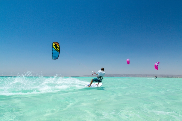El Gouna - Kite Action am KBC