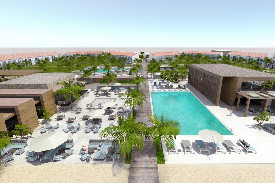 Sal - ROBINSON Club, Modelbild Überblick Pool Richtung Meer