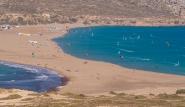 Rhodos Prasonisi - Pro Center Christof Kirschner, Übersicht Surf- und Kitebucht