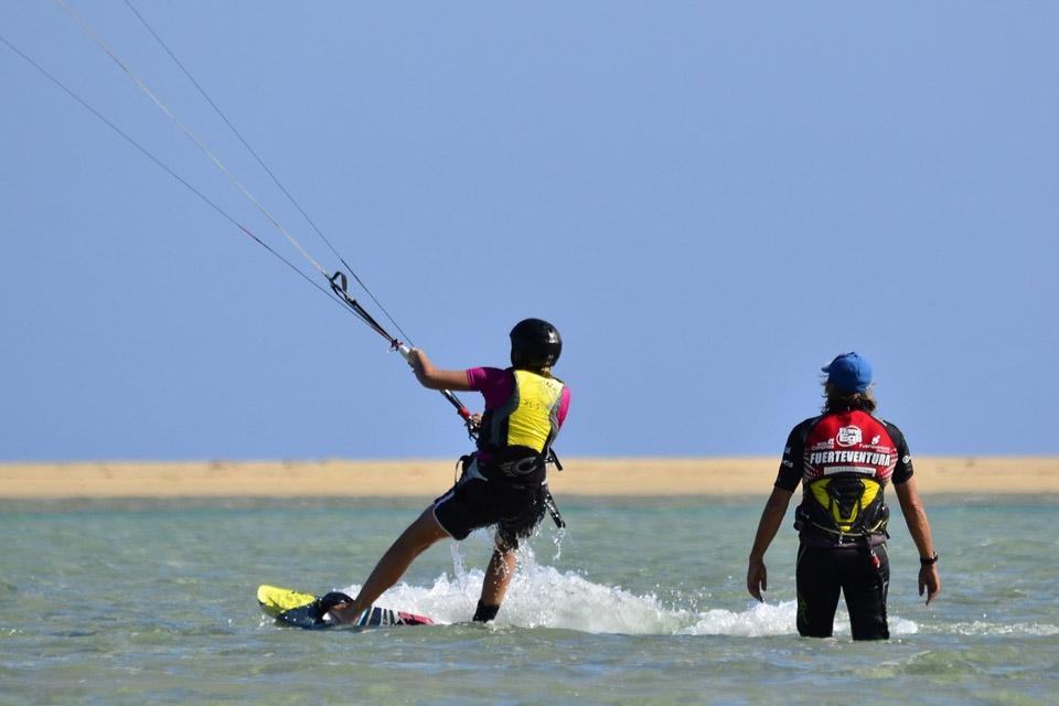 Fuerteventura - René Egli Kite Schulung in der Lagune