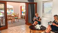 Bonaire - Sorobon Apartments, Apartment 1 SZ Wohnraum