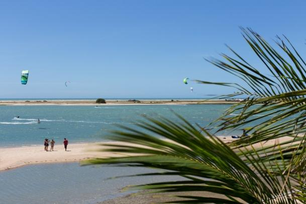 Ilha do Guajiru - Blick auf die Kitelagune