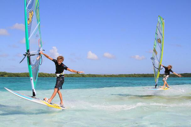 Bonaire Jibe City Surf Action Duo