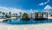 Bonaire - Delfins Beach Resort, Pool mit Meerblick