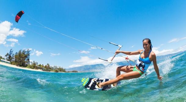 Kiten im Urlaub