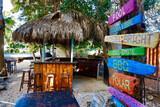 Bonaire - Tropical Inn, Bar im Garten