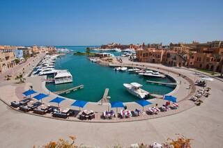 El Gouna, Captain`s Inn, Blick zum Hafen