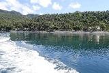Leyte - Pintuyan Resort, Blick vom Meer