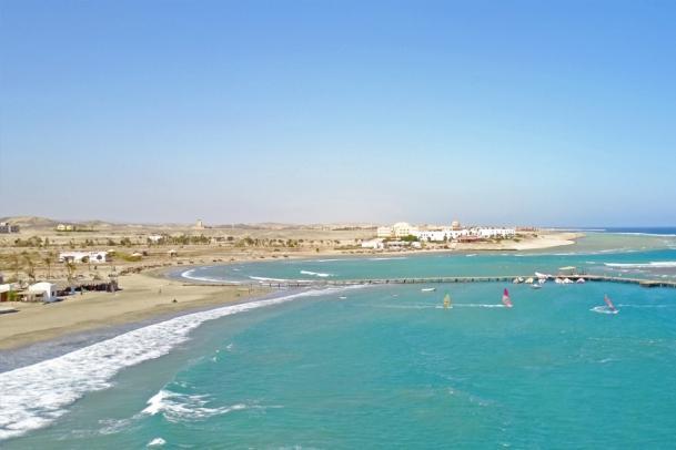 El Naaba - Luftaufnahme Pro Center mit Blick zum Equinox Hotel