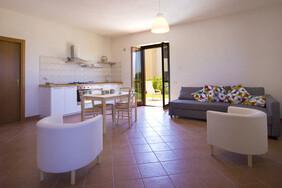 Stagnone Holiday Appartement - Wohnküche