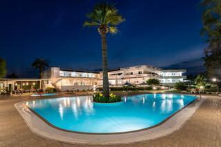 Rhodos Theologos - Sabina Hotel, Abendstimmung