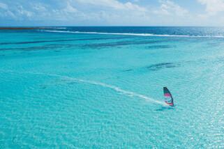 Bonaire - Dunkerbeck Pro Center, Surfen Lagune