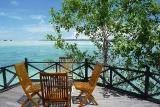 Kalimantan -Nabucco Island Resort, Blick von Terrasse
