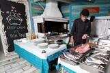 Naxos - Flisvos Beach Cafe, Fisch Barbeque