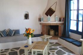 Mykonos - Villas Kalafatis, Wohnraum Sitzecke