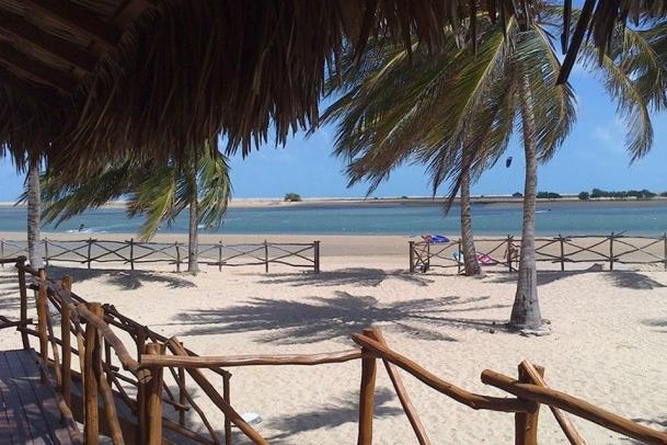 Ilha do Guajiru - Casa da Bruxa, Blick von der Terrasse