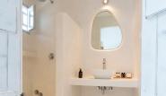 Naxos Flisvos Studios & Appartements, Blick ins Bad2