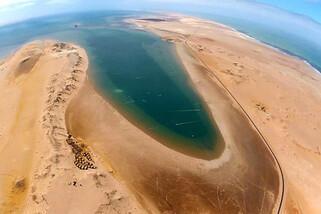 Dakhla Nord - Blick auf Ocean Vagabond und ION CLUB Revier