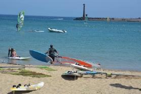 Lanzarote, Windsurf Paradise, Surfer Strand