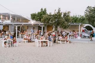 Naxos - Flisvos Beach Café und Surf & Bike Center direkt daneben