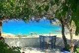Karpathos, Poseidon Blue, Restaurant Terrasse