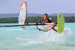 Bonaire - Windsurfer, Jibe City