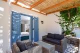 Naxos - Alkyoni Beach Hotel, Terrasse Zimmer Superior Gartenblick