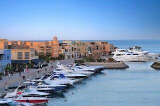 El Gouna, Ali Pasha, Blick zum Hafen